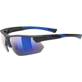 UVEX Sportstyle 221 Sportsbriller, black blue/mirror blue
